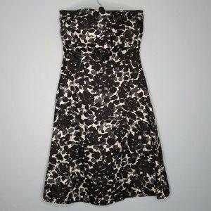 J. Crew Strapless Floral Silk Dress
